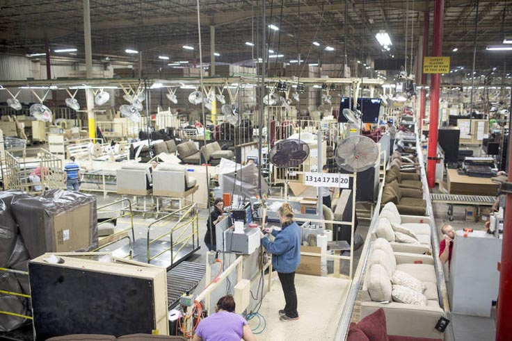 Ashley furniture tendr la mayor f brica de muebles for Muebles de fabrica